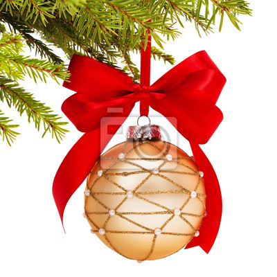 Bild Christmas ball on fir branch