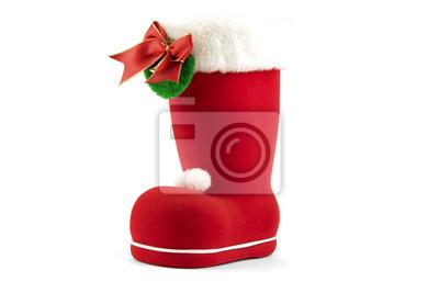 Bild Christmas boot isolated on white