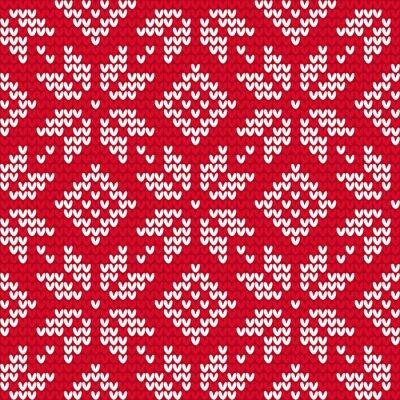 Bild Christmas knitted seamless pattern