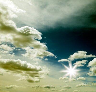 cielo con puesta de sol