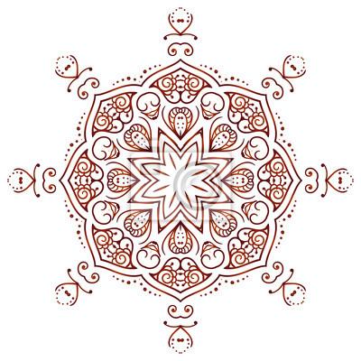 8558f71f4 Bild Circular floral ornament Mehndi Henna Tattoo Mandala, Yantra