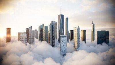 Bild City above the clouds