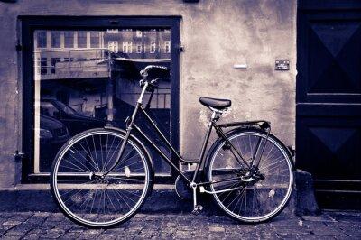 Bild Classic vintage retro Stadt Fahrrad in Kopenhagen, Dänemark