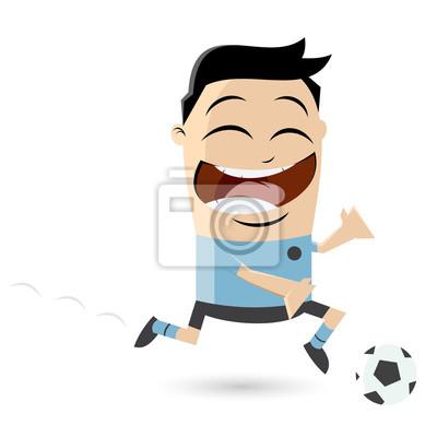 Clipart Eines Asiatischen Fussballspielers Leinwandbilder