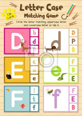 Clipkarten passende spiel des briefes fall d, e, f für ...