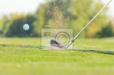 Close-up der Golfball mit Club