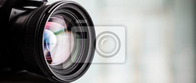 Bild Close-up einer digitalen Kamera. Großer Exemplar