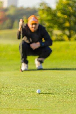 Close-up of golf ball.
