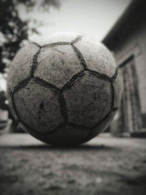 Bild Close-up Of Soccer Ball On Street