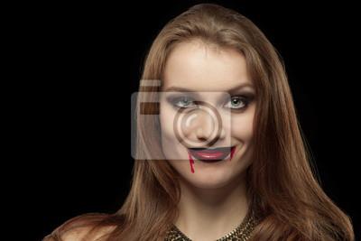 Close-up-Porträt von einem blassen Gothic Vampirfrau