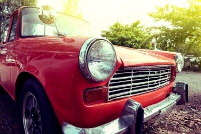 Bild Close-up Scheinwerfer der bunten klassischen Auto