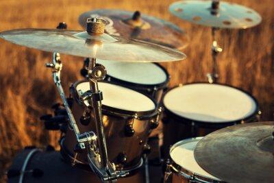 Bild Close up thin crash on a drum set