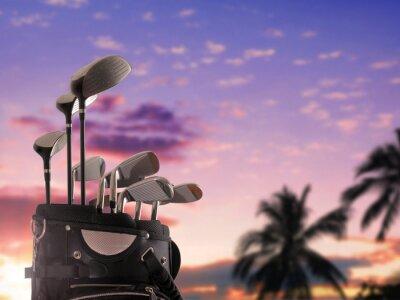 Bild close-up von einer Golftasche
