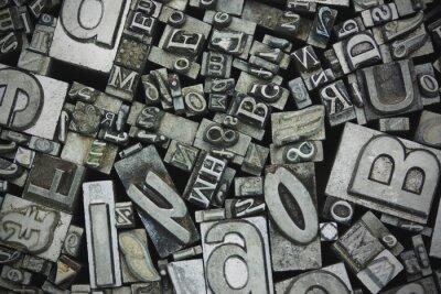 Bild Close up von Satz-Buchstaben