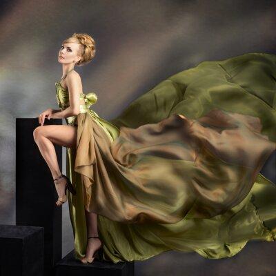 Bild Closeup Fashion Portrait der jungen schönen Frau