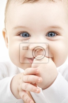 closeup Porträt von adorable Baby
