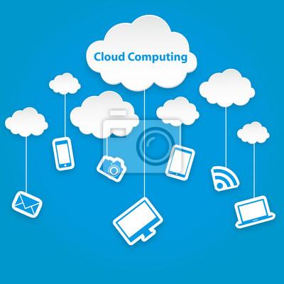 Bild Cloud Computing-Technologie abstrakten Schema eps10 Vektor-Illustration