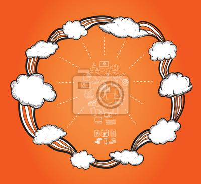 Cloud Computing Zyklus Vektor