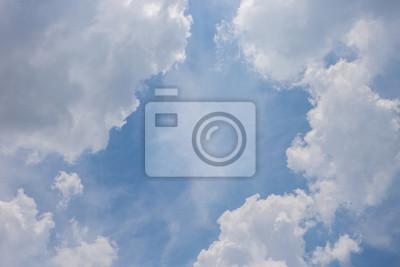 Cloud Grenze und blauer Himmel