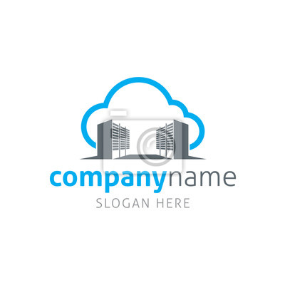 Cloud-server-logo-vorlage leinwandbilder • bilder Computer ...