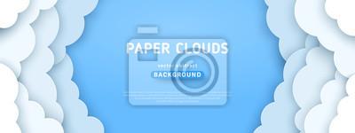 Bild Clouds on blue sky border