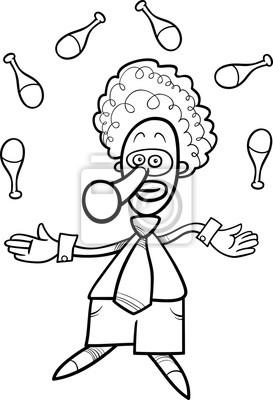 Clown Jongleur Ausmalbilder Kostenlos Leinwandbilder Bilder Komiker Jongleur Farben Myloview De