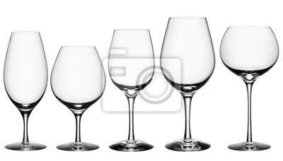 Bild Cocktail Glass Collection isoliert auf weiß + Beschneidungspfad.