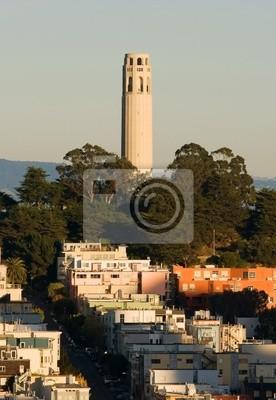 Bild Coit Tower in San Francisco bei Sonnenuntergang