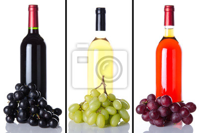 Bild Collage of wine bottles and grapes