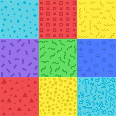 Bild Collection of swatches memphis patterns