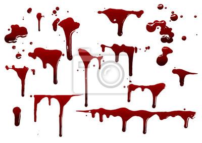 Bild collection various blood or paint splatters,Halloween concept