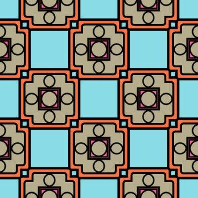 Bild Color decorative seamless pattern with geometric ornamnet. Vector illustration.