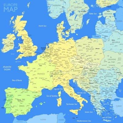 Bild Color Europe map