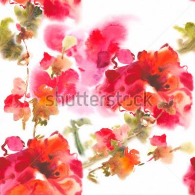 Bild Color illustration of flowers in watercolor paintingsAlbum