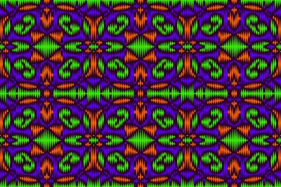 Colored embroidery seamless pattern. Carpet print template. Floor covering ornament.