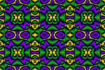 Colored embroidery seamless pattern. Oriental rug template.