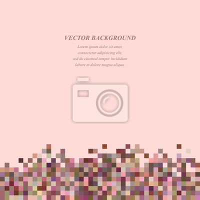 Colorful abstract tiled square mosaic background design template