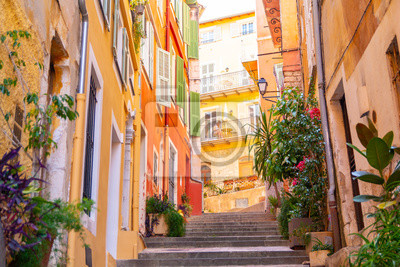 Bild colorful buildings in Nice on french riviera, cote d'azur, southern France
