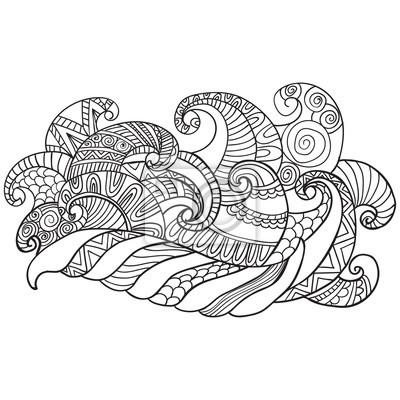 Colorieng buch für erwachsene. malvorlagen.vector hand gezeichneten ...