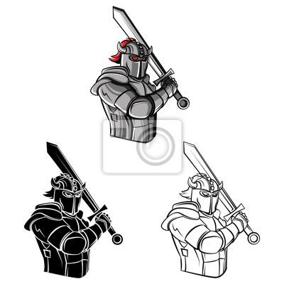 Bild: Coloring book knight warrior cartoon character