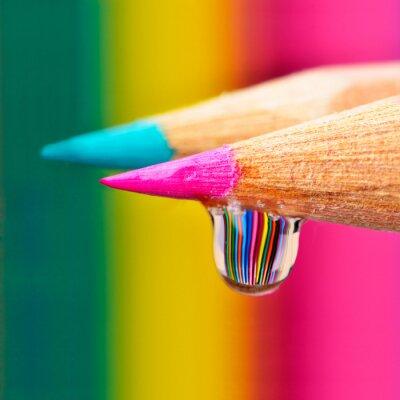 Bild Colors Explosion auf einem Tropfen