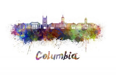Bild Columbia MO-Skyline in Aquarell