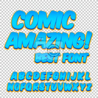 Comic Alphabet Gesetzt Buchstaben Zahlen Und Zahlen Für