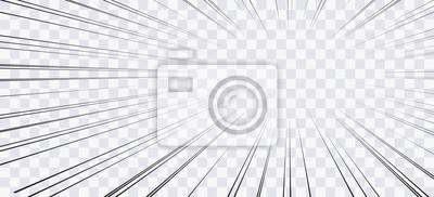 Bild Comic book action lines. Speed lines Manga frame