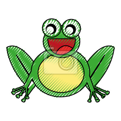 Comic Frosch Zeichen Symbol Vektor Illustration Design