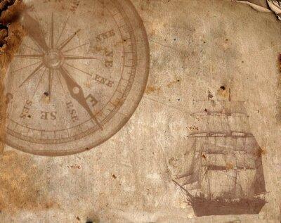 Bild Compass auf dem alten Papier