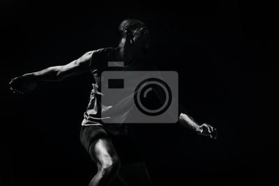 Bild Composite-Bild von Athleten Mann werfen einen Diskus