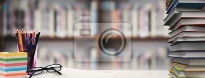 Bild Composite image of students desk