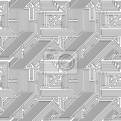 Computer-Platine nahtlose Muster.