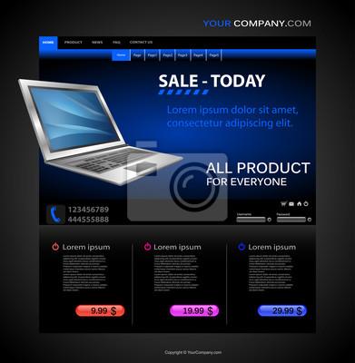 Computer-Shop Web-Seite Vorlage